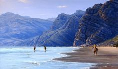 Enjoy horse riding and incredible surfing experiences at Noordhoek Beach.