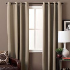 Ricardo Trading Ultimate Blackout Grommet Top Panel Diy Blackout Curtains, Drapes And Blinds, Blackout Panels, Wooden Patios, Cozy Couch, Brown Sofa, Custom Drapes, House Windows, Large Homes