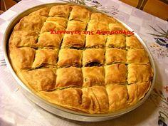 Συνταγές της Ασπρούλας: Ρουμελιώτικη χορτόπιτα Greek Pastries, Filo Pastry, Bread Cake, Greek Recipes, Apple Pie, Health, Serbian, Desserts, Tarts