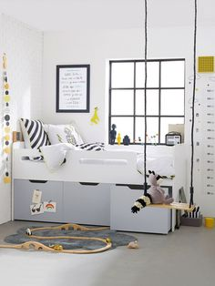 47 Modern Kids Room Design Ideas Thah Built In Beds - Each and every room of your home is undoubtedly very important and needs special care and attention in its decoration. Ideas Habitaciones, Kids Room Organization, Childrens Room Decor, Space Saving Furniture, Kids Furniture, Kids Room Design, Kid Beds, Bunk Beds, Kid Spaces
