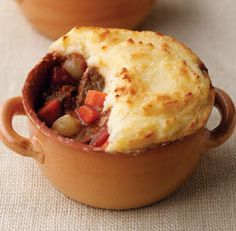 Shepherd's pie. The filling is a perfect blend of meat and vegetables, simmered together and then baked under a golden brown mashed potato to...