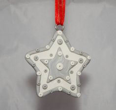 snowflake Christmas tree Decoration by Wishcraft2013 on Etsy, £3.00