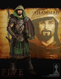 Shammah son of Shagué, One of the three Mighty Men of David Fantasy Character Design, Character Inspiration, Character Art, Fantasy Male, Fantasy Armor, Persian Warrior, Paladin, Arcane Trickster, Greek Mythology Art