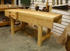 "I will be starting on a new project for myself. This one is going to be a new proper hand tool workbench. It will be similar to the workbench above. I will have a tool well in mine and it will be almost 3' wide and between 7-8' feet long. I have not yet decided on what type of vice I will use. I would love to have a chain drive that is like 24"" wide but I also want a quick release. I don't think you can have both. So I am torn. I have time to decide though. I will be ..."
