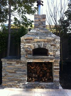Outdoor Pizza Oven This one would work great in the space!