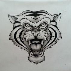 Tiger head. pezdelrio design... #tigre #tiger #tigerhead #tigertattoo #tigerheadtattoo #tattoo #ink #tattooink #tattooer #tattoobarcelona #nofiltros #pezdelrio