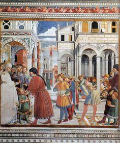 File:Benozzo Gozzoli - The School of Tagaste (scene 1, north wall) - WGA10285.jpg