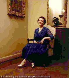 A self-portrait by Huguette Clark in the 1950s or 1960s in her New York apartment on Fifth...