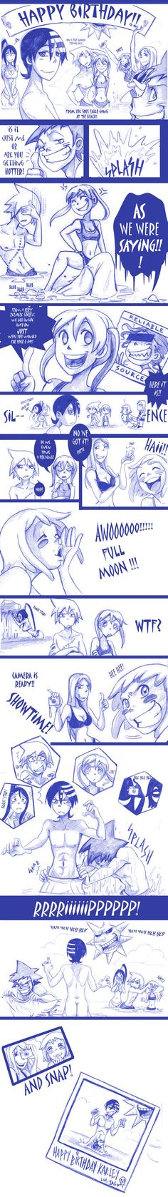 Soul Eater Birthday comic by ElementJax.deviantart.com on @deviantART (HAPPY BIRTHDAY! this made me laugh a little to much!)