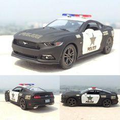 Mustang GT Police Car Metal Gift Kids Toy Metal Diecast Pullback Vehicle Model   | eBay