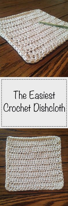 The quickest, easiest dishcloth you'll ever make! Make one in every color! The quickest, easiest dishcloth you'll ever make! Make one in every color! Knit Or Crochet, Crochet Gifts, Easy Crochet, Crochet Hooks, Free Crochet, Crochet Geek, Crochet Potholders, Dishcloth Crochet, Knitted Washcloths