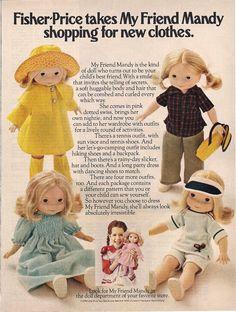 Vintage Fisher Price My Friend Mandy Ad 1978