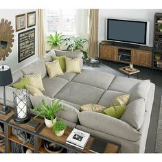 u couch shaped with 3 ottomans. U Couch, Cuddle Couch, Cozy Couch, Comfy Couches, Lounge Couch, Comfy Sectional, Deep Couch, Couch Set, Most Comfortable Couch