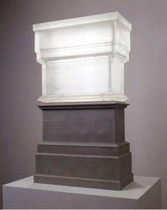 RACHEL WHITEREAD  Untitled (Trafalgar Square Plinth), 1999  Plaster and resin  35 1/2 x 19 1/2 x 41 inches (90.2 x 49.5 x 104.1 cm)  Ed. of 15