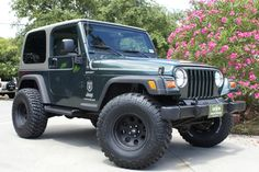 "2004 Sport - $14,995 - 105k Miles, 5-Speed Manual, Brand New 2.5"" Rough Country Suspension Lift and 33"" BFG KM2 MTs, Installed by Select Jeeps!!! http://www.selectjeeps.com/inventory/view/7494554?2004+Jeep+Wrangler+2dr+Sport+League+City+TX"