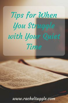 www.racheltuggle.com- Having a consistent quiet time can be a constant battle! Check out the ways that I back into my daily quiet time habit when I get in a funk.