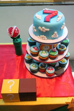 Cake y Cupcakes Mario Bross
