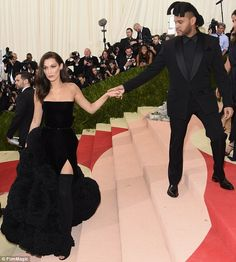 TheWeeknd's only just begun: The singer seemed keen to get her inside so they could enjoy...