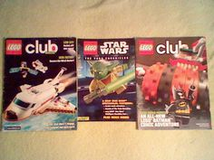 Magazine Lot of 3; 2 Lego Club/1 Star Wars Yoda Chronicles Comic