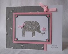 Adorable Elephant using Stampin Up Wild about You retired stamp set.
