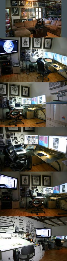 Mike Butkus studio's - posted by himself on ConceptArt.org
