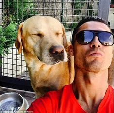 Cristiano Ronaldo posts selfie with his pet Labrador – WorldSport Neymar, Messi, Real Madrid Football, Real Madrid Players, Football Team, James Rodriguez, Photos With Dog, Dog Pictures, Fc Barcelona