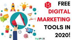 These are some Best Free Digital Marketing Tools in 2020. Must-Have Free Digital Marketing Tools to Help You Grow & Boost Your Website Traffic in 2020 Best Email Marketing Software, Content Marketing Tools, Digital Marketing Trends, Online Marketing Tools, Best Digital Marketing Company, Digital Marketing Strategy, Social Marketing, Marketing Automation, Competitor Analysis