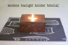 modern tealight holder tutorial - Noodlehead