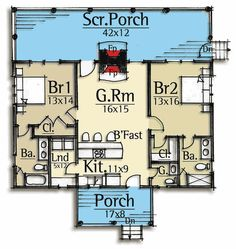 Plan Vacation Cabin With Vaulted Ceilings – Tiny house plans Small House Floor Plans, Cabin Floor Plans, Tiny Cottage Floor Plans, Home Design, Design Ideas, Cabin Design, Mountain House Plans, Cabin In The Woods, Cottage Plan