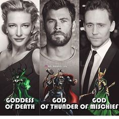 The outfits, the noses, the chins - Thor is totally the adopted one lol