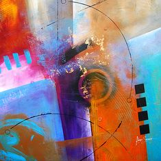 """Abstract Art """"Higher Ground"""" by . Savarino"""