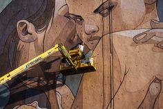 ARYZ Creates a Piece Called 'Overprotection' in Austria #streetart #graffiti trendhunter.com