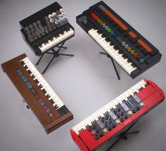 """A continuation of the line of popular synthesizer projects that began with """"Minimoog Synthesizers"""" (https://ideas.lego.com/projects/120340)and continued with """"Moog Modular 55..."""