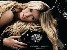 Marisa Miller and Harley-Davidson VRSCF V-Rod Muscle | Future Motorcycles