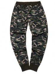 Plus Size Camouflage Beam Feet Jogger Pants - Army Green - 2xl