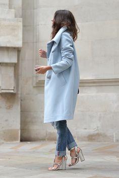 Pastel oversized coat