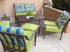 Sewing Cushions Sew Easy Outdoor Cushion Covers {Oldie, but Goodie} Outdoor Chair Cushions, Cushions, Patio Chairs, Patio Cushion Covers, Porch Furniture, Diy Patio, Home Decor, Upholstery Diy, Diy Patio Cushions