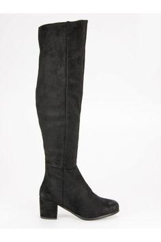 Vysoké čierne čižmy nad kolená VINCEZA YQE19-1770B Riding Boots, Knee Boots, Platform, Shoes, Fashion, Wedge, Zapatos, Moda, Shoes Outlet