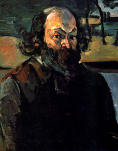 """Paul Cézanne, 1839-1906, Self-Portrait, 1875, Oil on Canvas, 64 x 53 cm, Musée d'Orsay, Paris. Cézanne was considered to be the """"father"""" of Post-Impressionism, who composed the majority of his art works' elements with the use of pictorial structure. He often liked to apply thick dabs of paint, which added a great deal of dimension to his work. Moreover, it helped him achieve simplistic shapes and basic geometric forms - which usually resulted an abstract style."""
