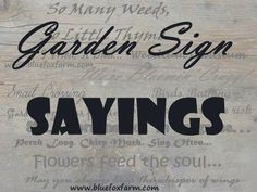 Garden Sign Sayings - funny quotes, whimsical sayings