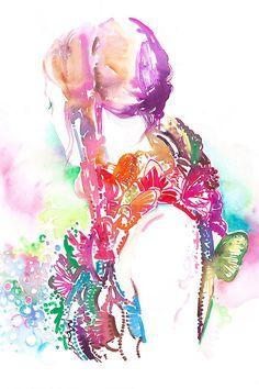 Alexander McQueen Sarah Burton Butterflies. Original Painting, Fashion Illustration by Cate Parr