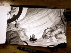"Inktober : TheLittleWitchesExodus | day 25 : Boat . ""And..."