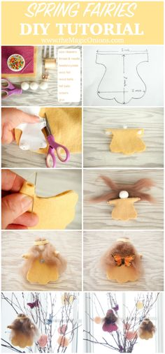 Spring Flower Fairy :: DIY Felt Tutorials :: www.theMagicOnions.com