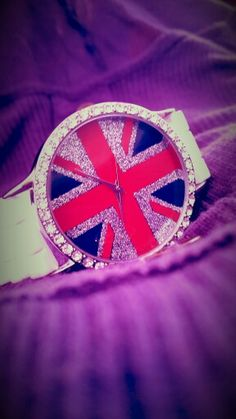 #Beautifull #Vintage #Nice #Pretty #Sweet #Shiny #Sparkly #Handclock #Bracelet #Wriatwatch #Clock #Flag #British #Ingland♥