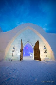 Hotel De Glace, Ice Hotel, Opens Outside Quebec City (PHOTOS)