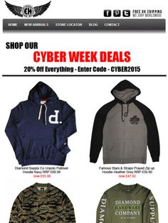 #Save 20% until midnight on Monday 07.12.15 #cyberweek deals #hoodies #streetwear #beanies #snapbacks #giftsformen  http://www.everythinghiphop.com/  CODE - CYBER2015