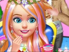 Kids Hair Salon  Cut & Color !- Android gameplay Baby Care Inc  Movie  a...