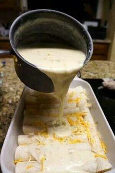 Chicken Cheese Enchiladas