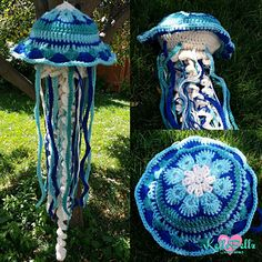 The African Flower Jelly Fish is an amigurumi I am offering for free as a thank you to all the other free patterns out there!