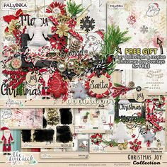Christmas Joy Collection + Free Gift by Palvinka Designs   Digital Scrapbook @ at The Digichick